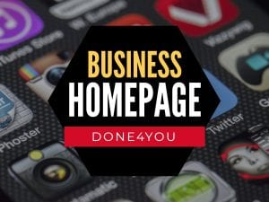 Business Homepage done4you